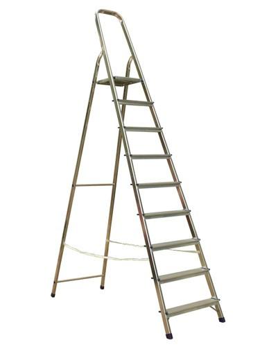 Лестница-стремянка алюминиевая матовая  9-и ст. Ам709 - 302