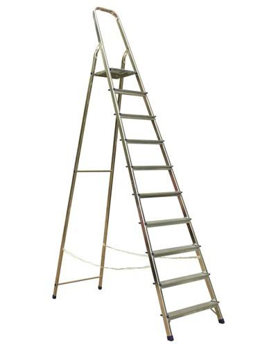 Лестница-стремянка алюминиевая матовая 10-ти ст. Ам710 - 303