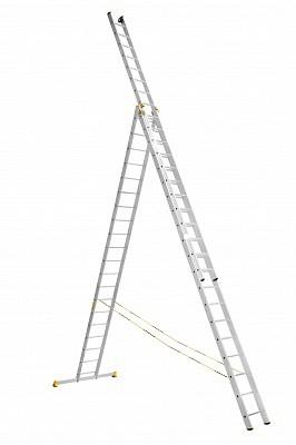 Алюминиевая трехсекционная универсальная профессиональная лестница P3 9320 - 538