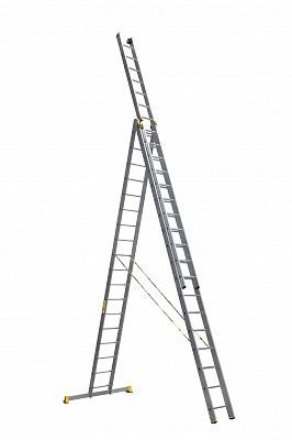 Алюминиевая трехсекционная универсальная профессиональная лестница P3 9318 - 539