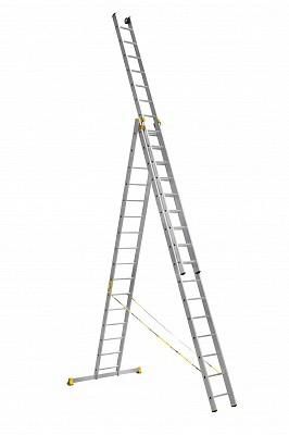 Алюминиевая трехсекционная универсальная профессиональная лестница P3 9316 - 540