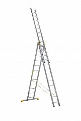 Алюминиевая трехсекционная универсальная профессиональная лестница P3 9312 - 542