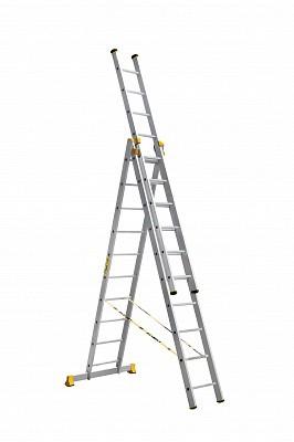 Алюминиевая трехсекционная универсальная профессиональная лестница P3 9310 - 543