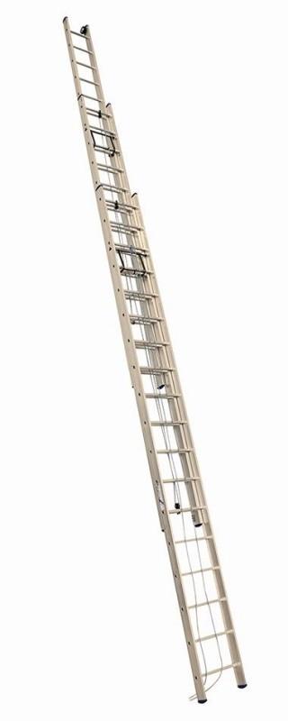 Алюминиевая трехсекционная лестница 3318 выдвижная с тросом - 548