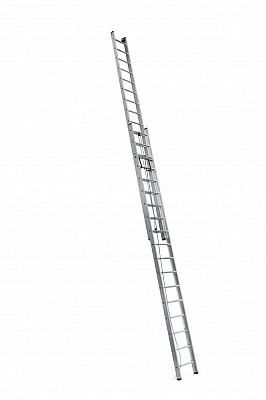 Алюминиевая двухсекционная лестница 3225 выдвижная с тросом - 549