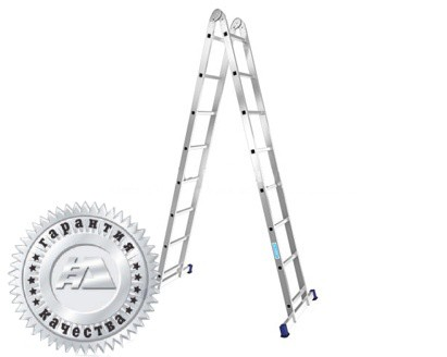 Лестница алюминиевая двухсекционная шарнирная Т208 - 565