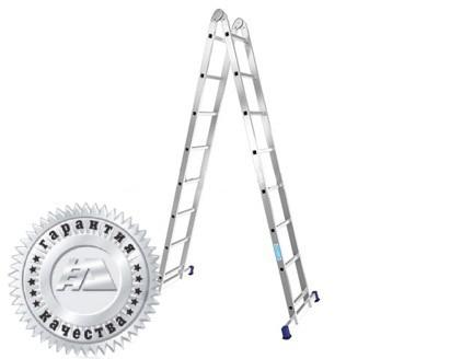 Лестница алюминиевая двухсекционная шарнирная Т210 - 567