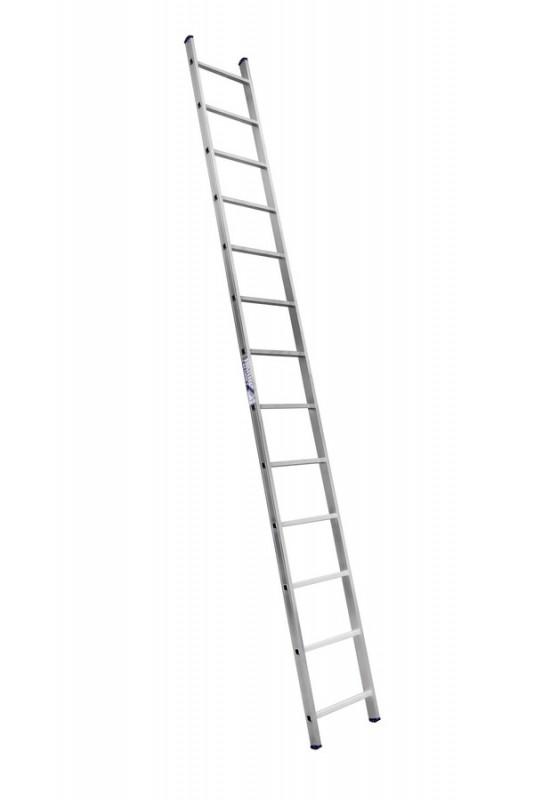 Алюминиевая односекционная  приставная лестница 6113 - 732