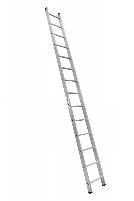 Алюминиевая односекционная  приставная лестница 6114 - 733