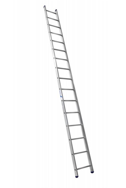 Алюминиевая односекционная  приставная лестница 6116 - 735