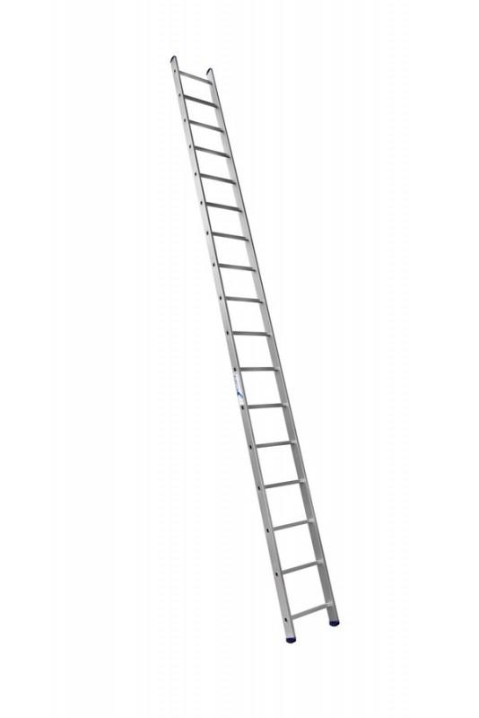 Алюминиевая односекционная  приставная лестница 6117 - 736
