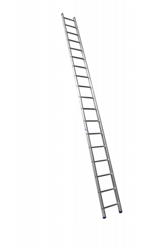 Алюминиевая односекционная  приставная лестница 6118 - 737