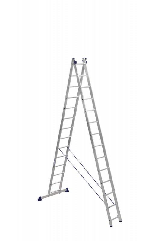 Алюминиевая двухсекционная лестница 5214 - 751