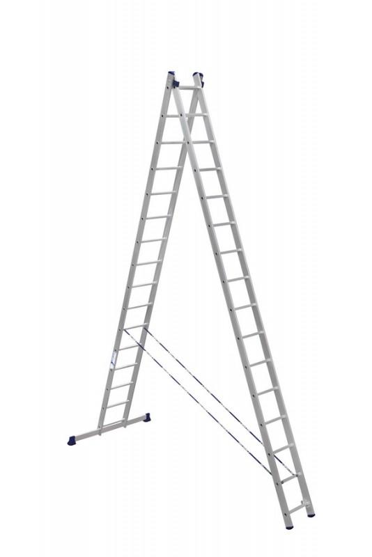 Алюминиевая двухсекционная лестница 6216 - 753