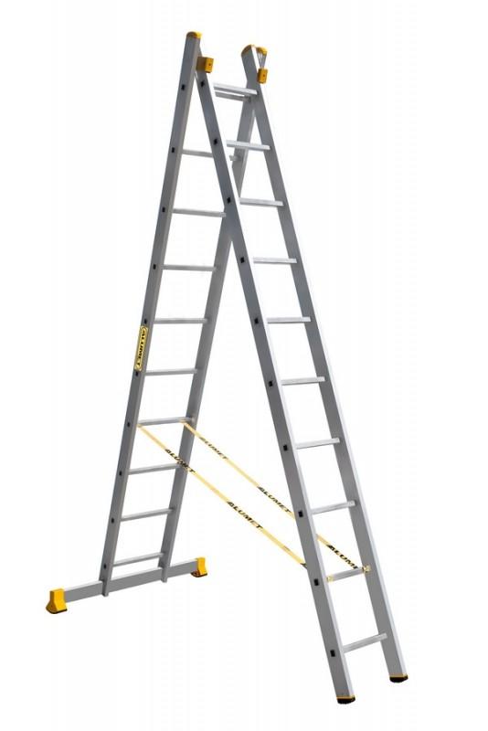 Алюминиевая двухсекционная универсальная профессиональная лестница P2 9210 - 757