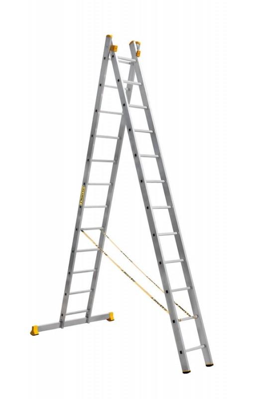 Алюминиевая двухсекционная универсальная профессиональная лестница P2 9212 - 758