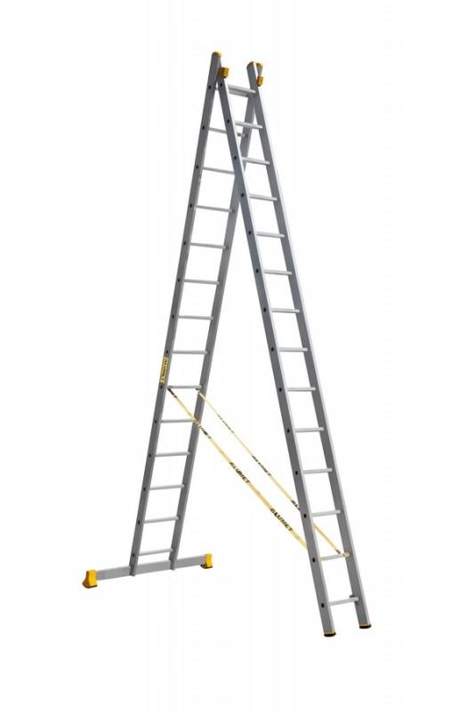 Алюминиевая двухсекционная универсальная профессиональная лестница P2 9214 - 759