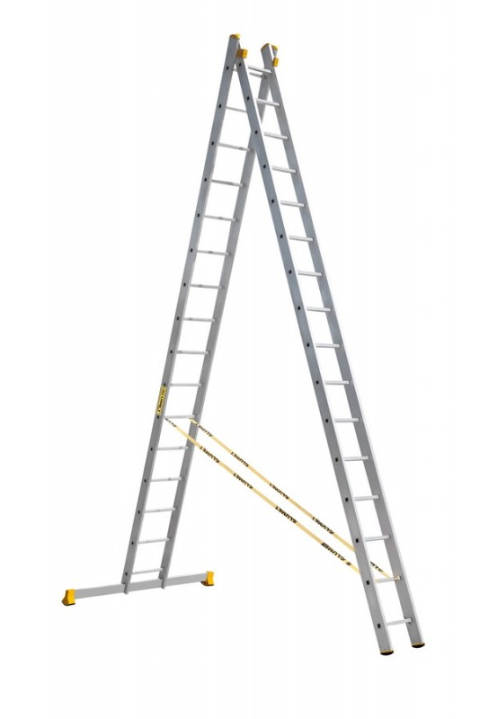 Алюминиевая двухсекционная универсальная профессиональная лестница P2 9216 - 760