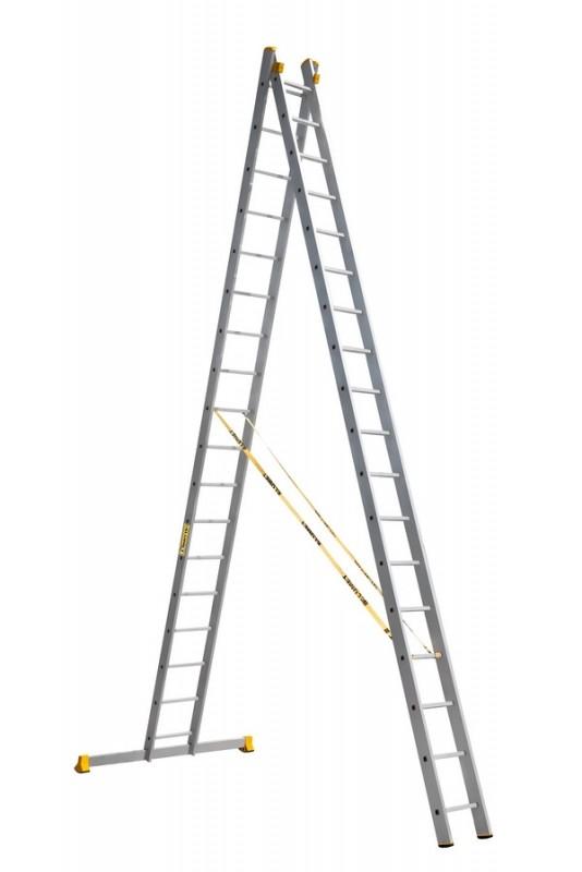Алюминиевая двухсекционная универсальная профессиональная лестница P2 9218 - 761