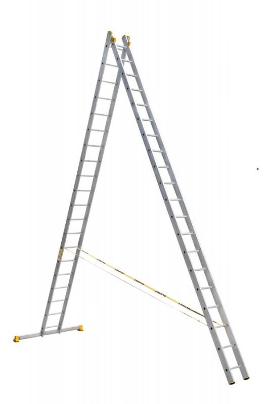 Алюминиевая двухсекционная универсальная профессиональная лестница P2 9220 - 762
