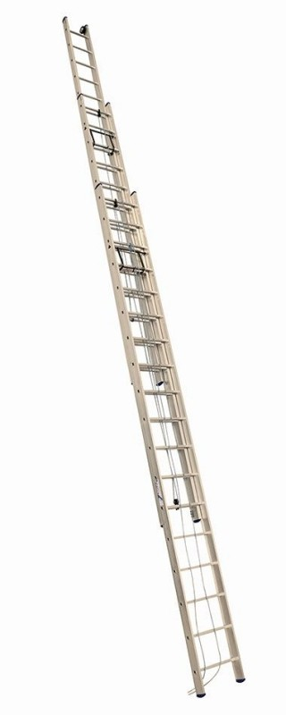 Алюминиевая трехсекционная лестница 3319 выдвижная с тросом - 767