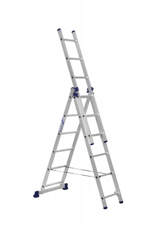 Алюминиевая трехсекционная лестница 5306 - 768