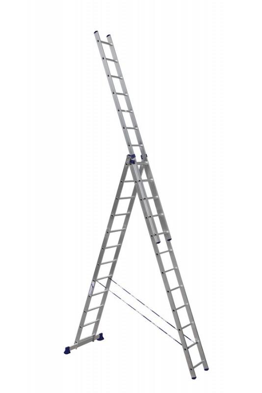 Алюминиевая трехсекционная лестница 6312 - 769