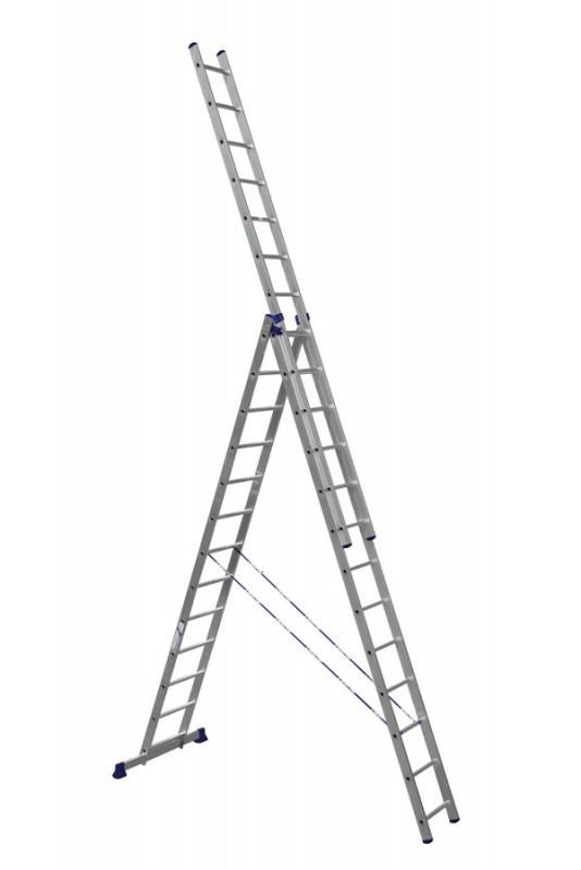 Алюминиевая трехсекционная лестница 6313 - 770
