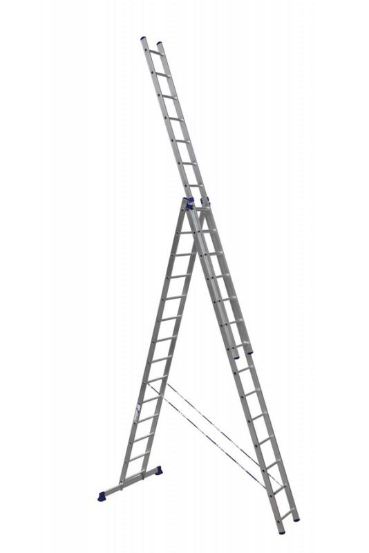 Алюминиевая трехсекционная лестница 6314 - 771