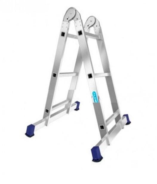 Лестница алюминиевая двухсекционная шарнирная Т203 - 778