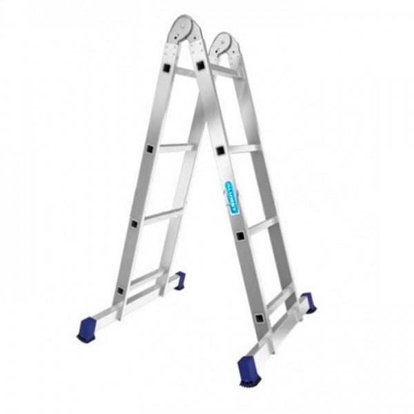 Лестница алюминиевая двухсекционная шарнирная Т204 - 779