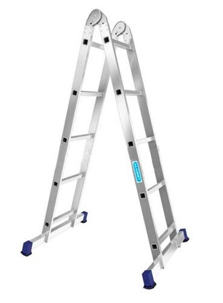 Лестница алюминиевая двухсекционная шарнирная Т205 - 780