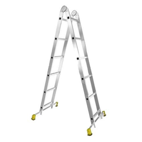 Лестница алюминиевая двухсекционная шарнирная Т206 - 781